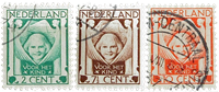Netherlands 1924 - NVPH 141-143 - Cancelled
