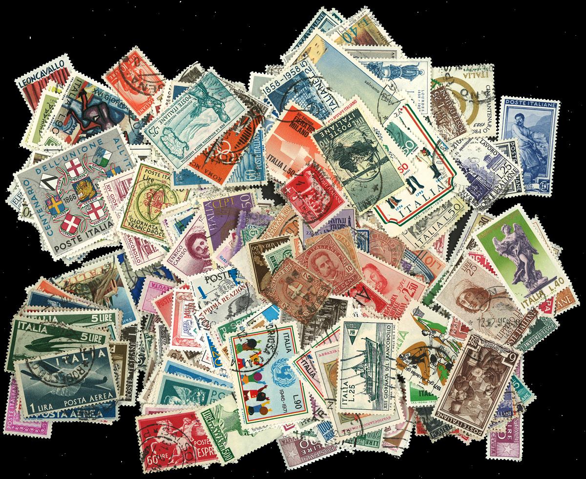 Italien - frimærkepakke 500 forskellige