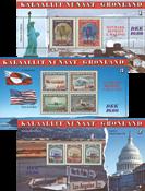 Grønland 1945-95 - Miniark 3 stk - Postfrisk