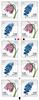 Danmark - Forårsblomster - Postfrisk 10-stribe