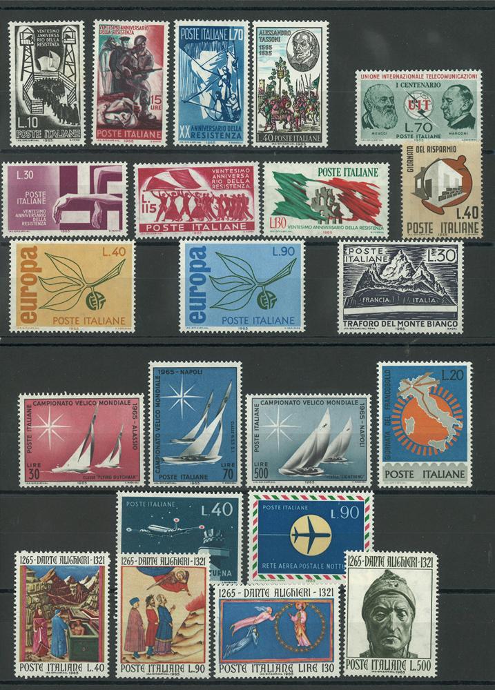 Italien årgang 1965 postfrisk