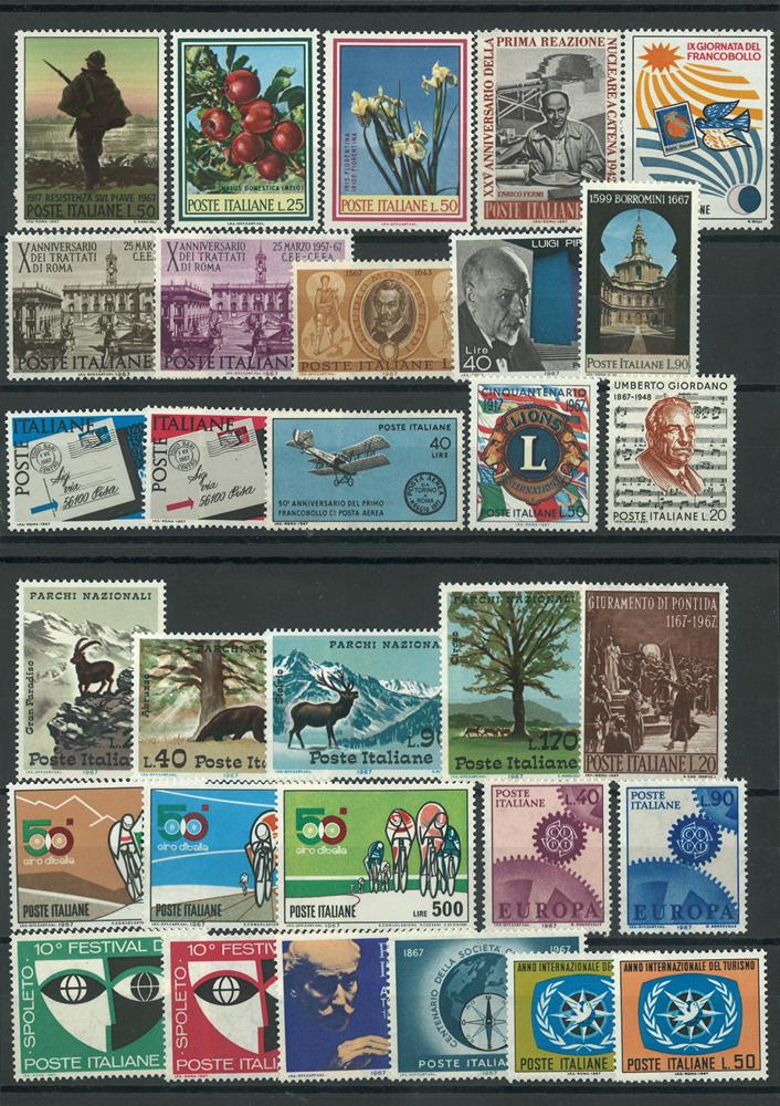 Italien årgang 1967 postfrisk