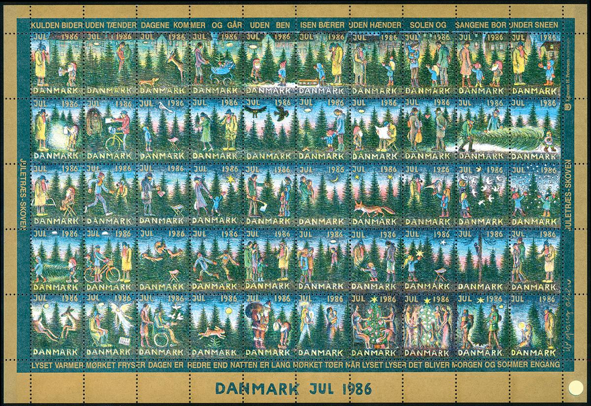 Danmark Julemærkeark 1986