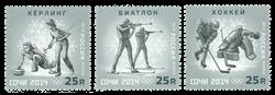 Rusland - Vinter OL 2013 - Postfrisk sæt 3v