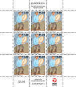 Grønland - Europa 2014 - Postfrisk småark (11,50)