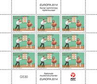 Grønland - Europa 2014 - Postfrisk småark (13,-)