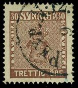 Sweden 1858 - AFA 10 cancelled