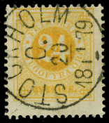 Sweden 1877 - AFA 23B cancelled