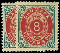 Denmark 1875 - AFA 25y mint with hinges