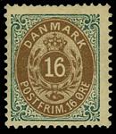 Danmark 1875 - AFA nr.27y Ubrugt