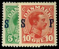 Danmark 1917 - AFA nr.1--2 Postfrisk