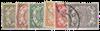 Curacao - Cijfer 1902-1908 (nr. 29-34, gebruikt)