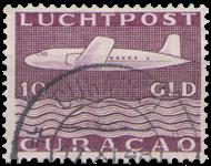 Curacao - losse waarde uit Vliegtuig 1947 (nr. LP 86, gebruikt)