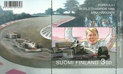 Finland - Mika Hakkinen, postfrisk miniark