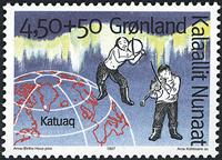 Grønland - 1997. Grønlands kulturhus - 4,50+0,50 kr. - Flerfarvet