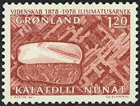 Grønland - 1978. 100-året - 1,20 kr. - Rødbrun
