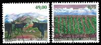 Grønland - Landbrug - Stemplet sæt 2v