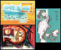 Grønland - Moderne Kunst - Flot sæt maxikort