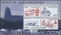 Greenland - 2001. Souvenir sheet - 1,00 + 4,50 + 5,00 + 10,00 kr.