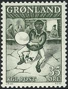 Greenland - 1961. Drum Dance - 35 øre - Dark green