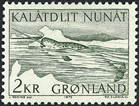 Greenland - 1975. Narwhal - 2 kr - Green