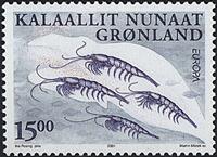 Grønland - 2001. Europafrimærke - 15,00 kr. - Flerfarvet