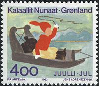 Grønland - 1993. Julefrimærke - 4,00 kr. - Flerfarvet