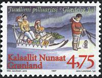 Grønland - 1997. Julefrimærker - 4,75 kr. - Flerfarvet