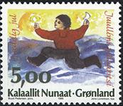 Grønland - 1995. Julefrimærker - 5,00 kr. - Flerfarvet