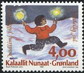 Grønland - 1995. Julefrimærker - 4,00 kr. - Flerfarvet