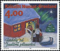 Grønland - 1994. Julefrimærker - 4,00 kr. - Flerfarvet