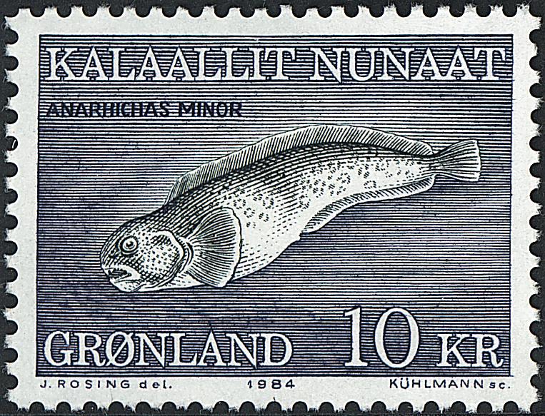 Grønland - 1984. Havkat - 10 kr. - Flerfarvet