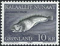 Greenland - 1984. Spotted Wolffish - 10 kr. - Multicoloured