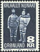 Greenland - 1980. Driftwood Figures - 8 kr. - Blue