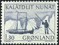 Greenland - 1975. The Polar Ship of Gustav Holm - 1,30 kr. - Blue