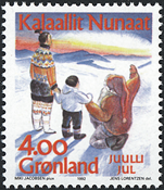 Greenland - 1992. Christmas - 4,00 kr. - Multicoloured