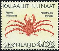 Grønland - 1993. Krabber - 4,00 kr. - Flerfarvet
