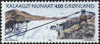 Greenland - 1994. The Hydroelectric Power Station at Buksefjorden - 4,00 kr