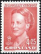 Grønland - Dronning Margrethe II - 4,25 kr. - Rød
