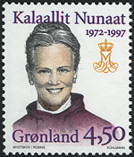 Greenland - 25th Anniversary of Queen Margrethe II´s Coronation - 4,50 kr