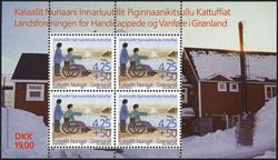 Grønland - Miniark med 4 stk. nr. GL297