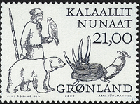 Greenland - 2000. Arctic Vikings Part II - 21,00 kr - Blue / Grey