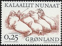 Grønland - 2000. Arktiske vikinger II - 0,25 kr. -  Grå / Rødbrun