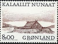 Grønland - 1999. Arktiske vikinger I - 8,00 kr. - Grå / Rødbrun