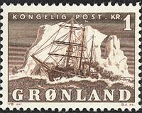 Greenland - The Polar Ship of Gustav Holm - 1 kr. - Brown