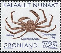 Grønland - 1993. Krabber - 7,25 kr. - Flerfarvet med inskription *oiliqo*