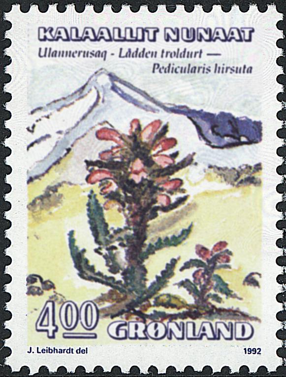 Grønland - 1992. Blomster III - 4,00 kr. - Flerfarvet