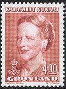 Greenland - Queen Margrethe II - 4,00 kr - Red