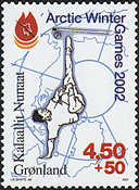 Greenland - 2001. Arctic Winter Games 2002 - 4,50 + 0,50 kr - Multicoloured