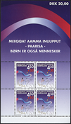 Grønland - 2002. miniark med 4 stk. nr. GL387
